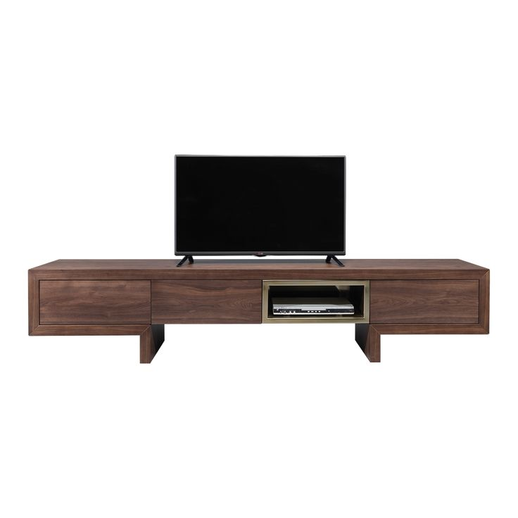 Isis Tv Cabinet   Laskasas   Decorate Life   www.laskasas.com   Wooden TV cabinet here with mocha and walnut finish. With 4 doors that reveal 2 shelves each, together with 2 drawers, they give to this modern storage solution the utility that the decoration has to cover.