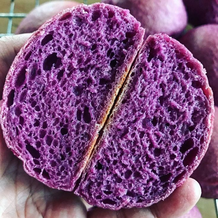 purple sweet potato rolls