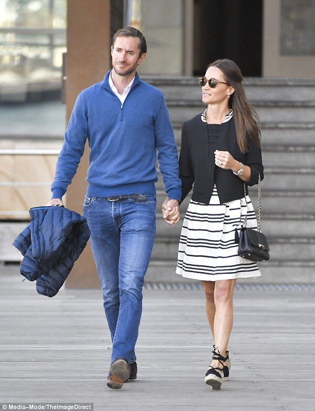 Say it with stripes in Pippa's Kate Spade dress. Click 'Visit' to buy now. #DailyMail
