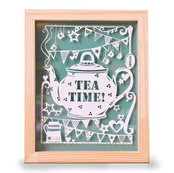 """Cuadro calado """"Tea time"""" - CASA FAD - Muebles Originales"""