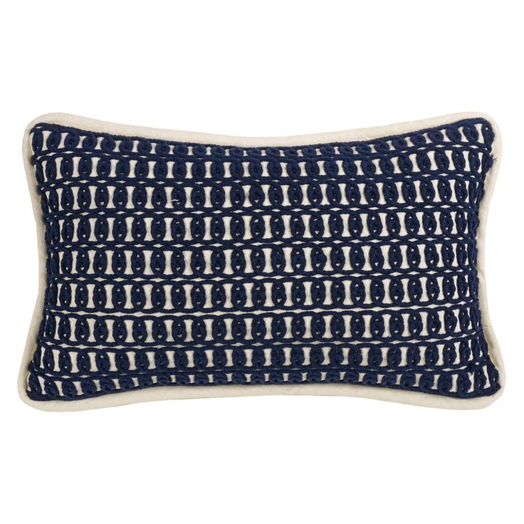 HiEnd Accents Monterrey Rope Embroidery Pillow - FB3970P5