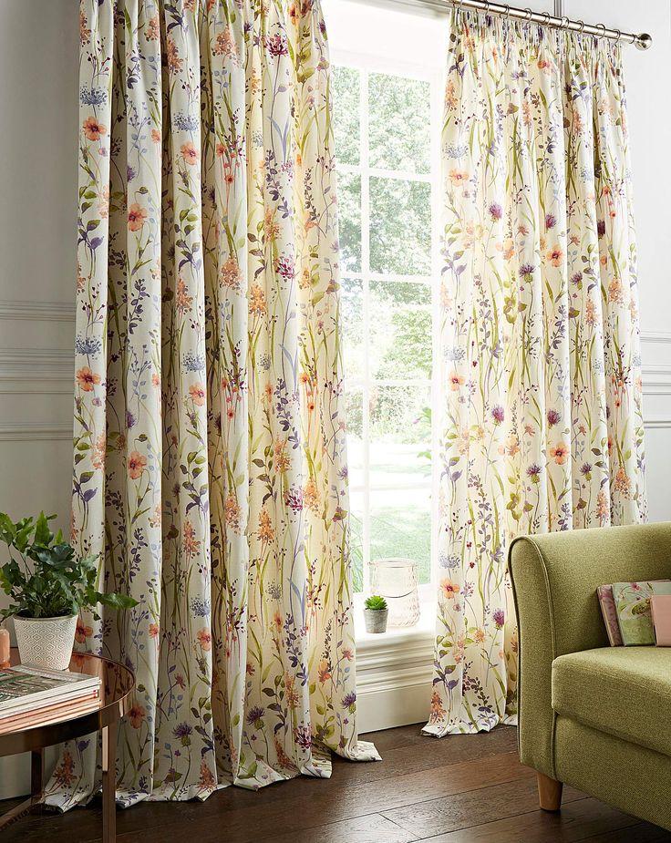 Hampshire Lined Pencil Pleat Curtains J D Williams Curtains Bright Curtains Pleated Curtains