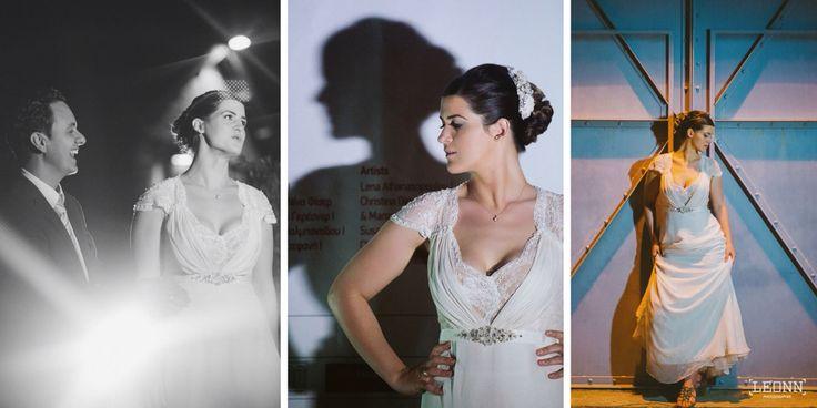 Elegant outdoor bridal shoot Photo by Leon