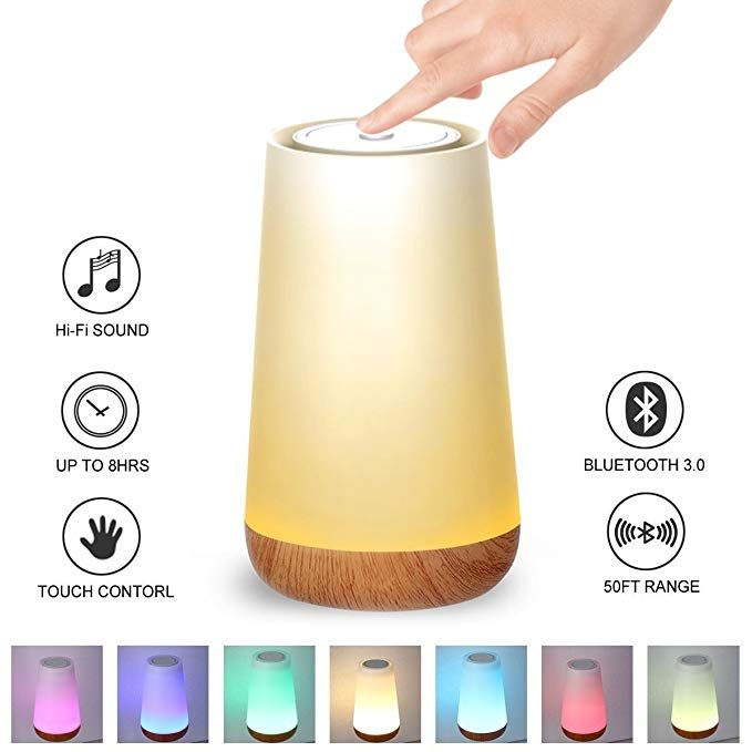 Kainuoa Touch Control Table Lamp Led Smart With Bluetooth Speaker Control Night Light And Dimmable Color Control Led Light Bedsid Touch Lamp Lamp Bedside Lamp
