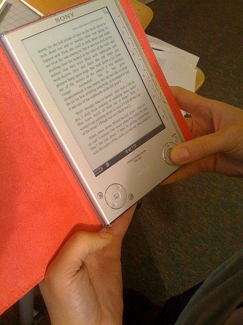 Sony eReader. Eff you, Sony!  I can't get my PAID CASH FOR books in any other format.  Thanks