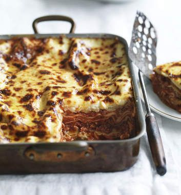 Neil Perry's Buffalo mozzarella lasagne.