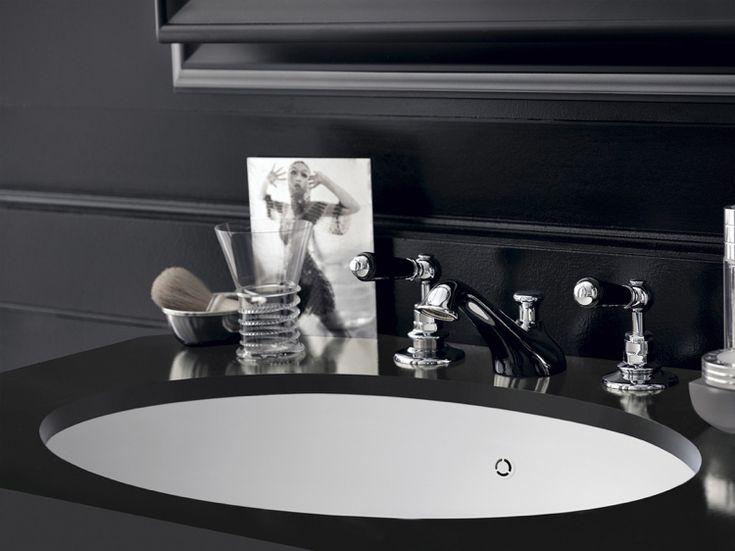 design handwaschbecken badezimmer schwarz armatur retro barock luxus #badezimmer #bathroom #ideas