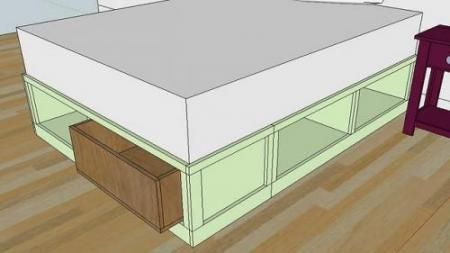I want to make this!  DIY Furniture Plan from Ana-White.com  Drawers for the Queen Sized Storage Bed. Add tons of very useable storage to your room with this plan. Bed plans available here .
