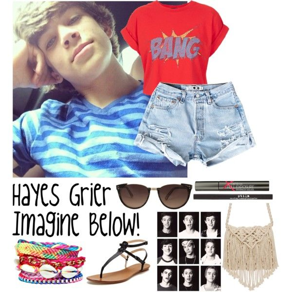 Hayes Grier Imagine Below! (Requested) ~Alicia, created by imaginegirlsdsos on Polyvore
