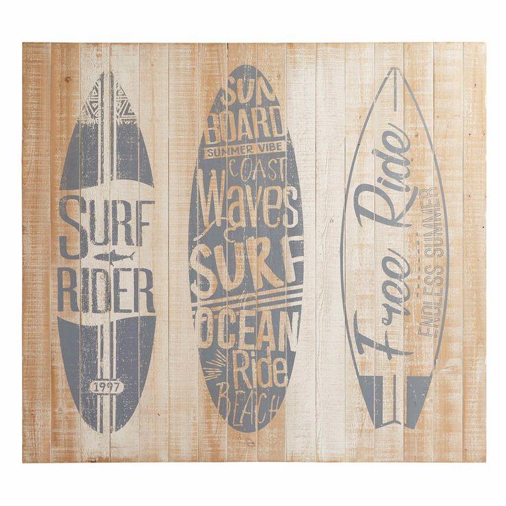 Bleached Pine Headboard SURFING | Maisons du Monde