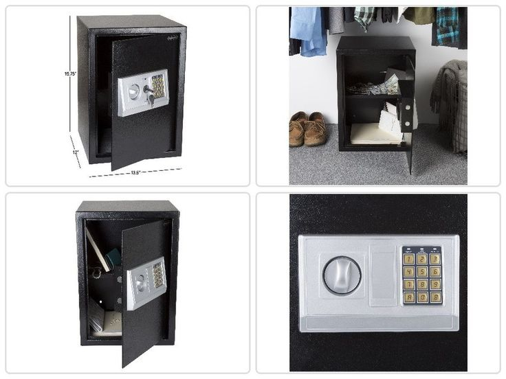 Black Electronic Safe Extra Large 2 Manual Override Keys Cold-Roll Steel Sheets #Stalwart