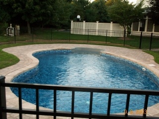 34 best pool/patio images on pinterest | backyard ideas, swimming ... - Inground Pool Patio Designs