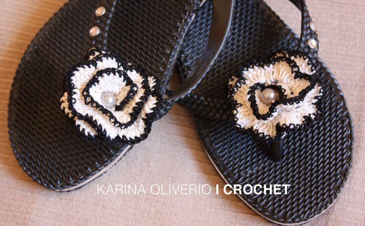Crochet in your feet.