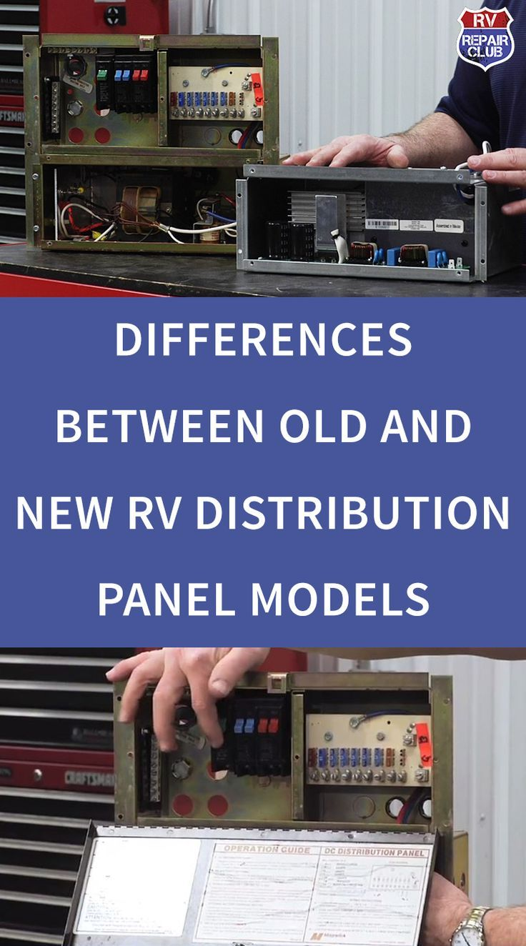 Differences Between Old And New Rv Distribution Panel Models Rv Repair Rv Rv Maintenance