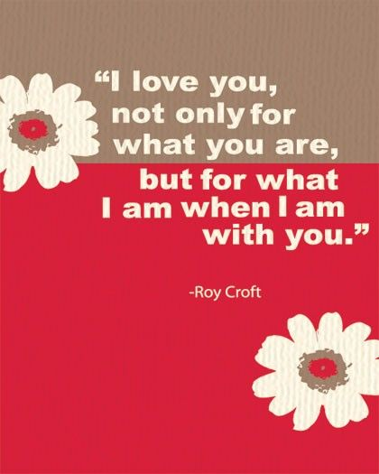 I Love You... Roy Croft Quote Poster Wall Art for Home Decor and Gift. $19.99, via Etsy.  Love this... Wish it weren't quite so feminine.