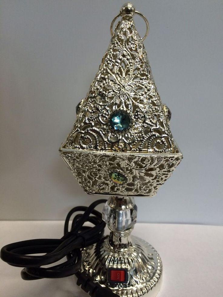 YASMEEN Amazing! Silver Electric Incense Burner Pyramid Shape USA Seller New!!  | eBay