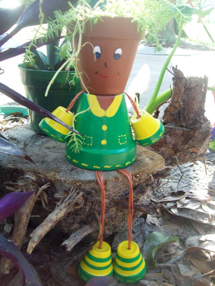 flower pot people | flower pot people terracotta crafts garden accents