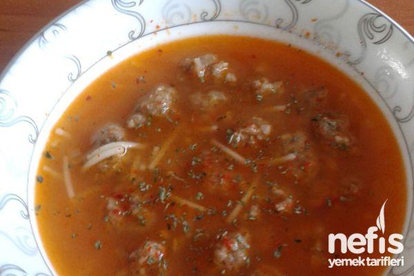 köfteli tel şehriye çorbası - nefis yemek tarifleri