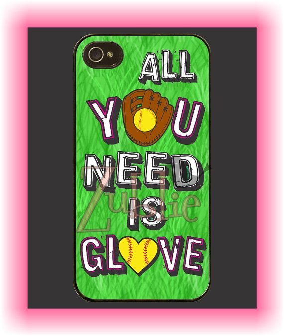 Custom Softball Mom Love Phone Case on Etsy, $10.00