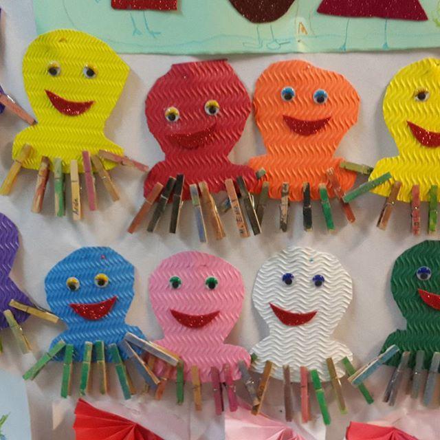 clothes pin octopus craft