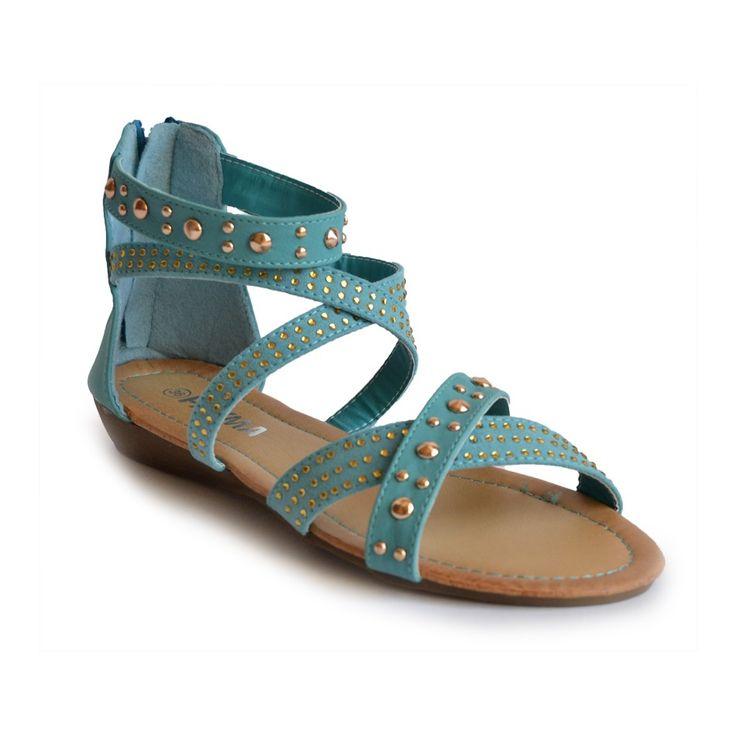 Sandalia Tachuelas Azul - 11€ - Payma - http://www.calzadospayma.com/2384-1-cruz-tachuelas-azul-.html