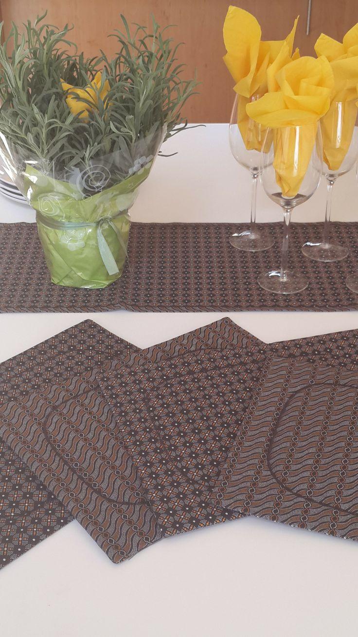 Shweshwe table set