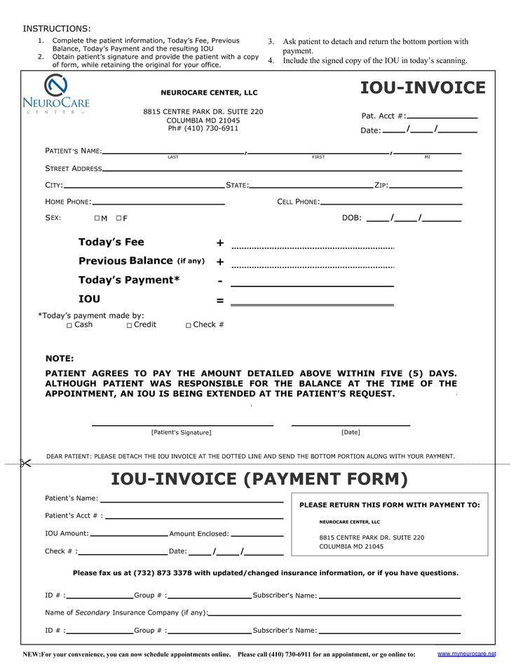 Free Printable Iou Template Lovely Iou Form Template Invitation Templates I O U Forms Report Template Templates Templates Printable Free