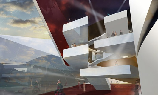 Taipei Performing Arts Center Proposal by Architects Collective (Lobby)