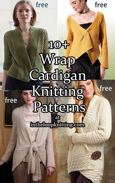 Knitting patterns for Wrap Cardigans. Most are free patterns