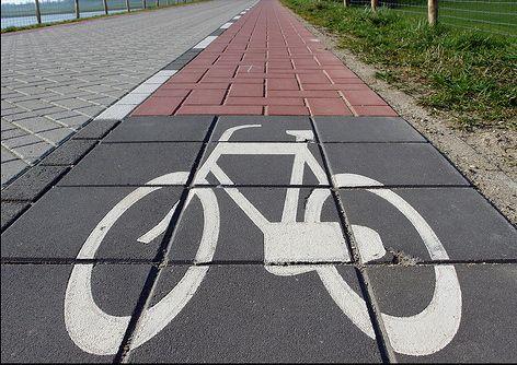 This indicates a bicycle lane.