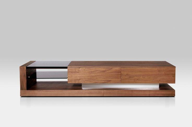 Modern Design TV Console | Modrest Mali Modern Walnut TV Stand