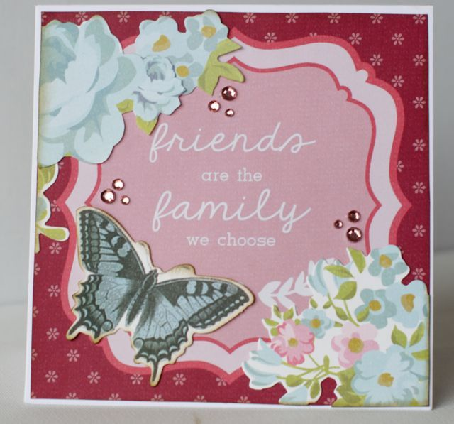 A card by Kelly-ann Oosterbeek, made using the Secret Garden Collection from Kaisercraft. www.amothersart.com