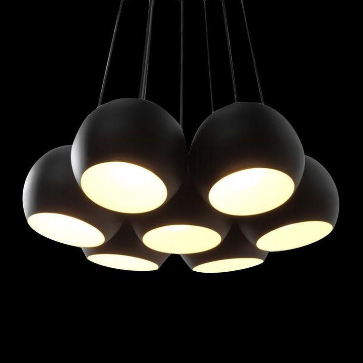 De Sphere 7 hanglamp. Een warme uitstraling door zijn zachte licht en eenvoudige maar vloeiende lijnen.