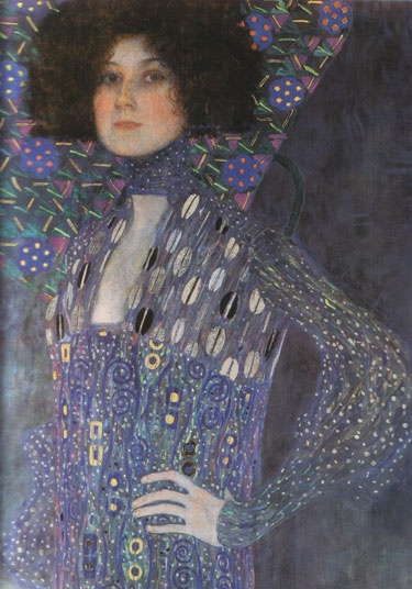 Gustav Klimt. Portrait of Emilie Flöge, detail