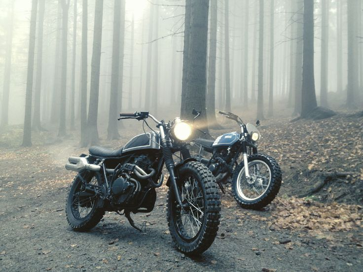 Forest ride with #custom #motorcycles
