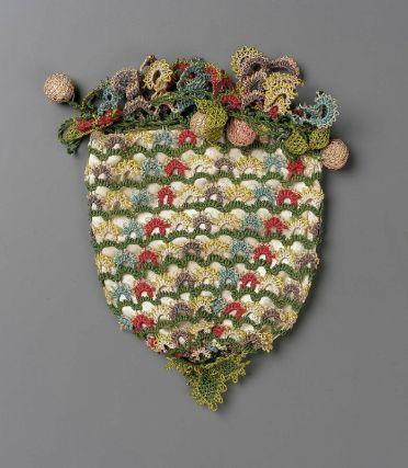18th Century Unkown Silk Bag- Museum of Fine Art -Boston