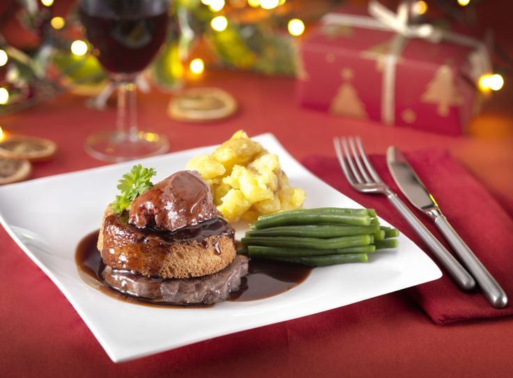 This is our sophisticated Tournedorossini Steak. Serve on a romantic or special occasion such as Christmas. The Steak tastes better than it looks.