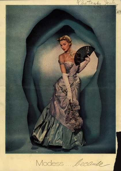 Modes's Sanitary Napkins – Modess...because (1949)