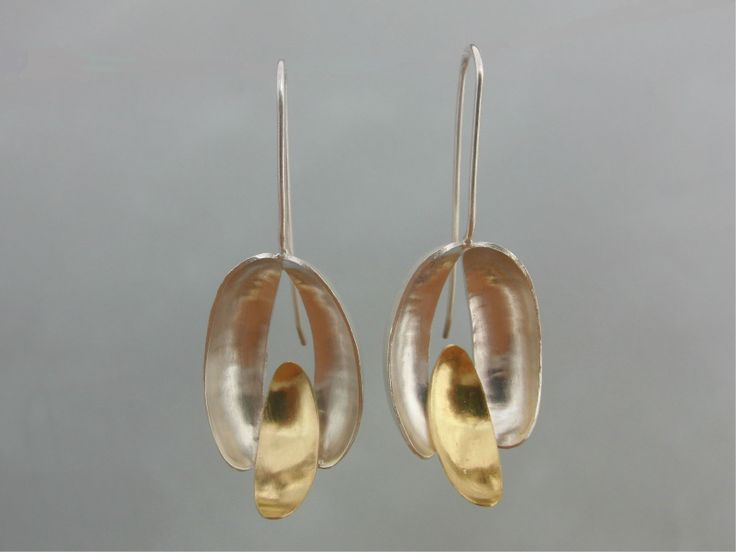 PETAL Earrings Sterling Silver 925 / 19,2 K Gold