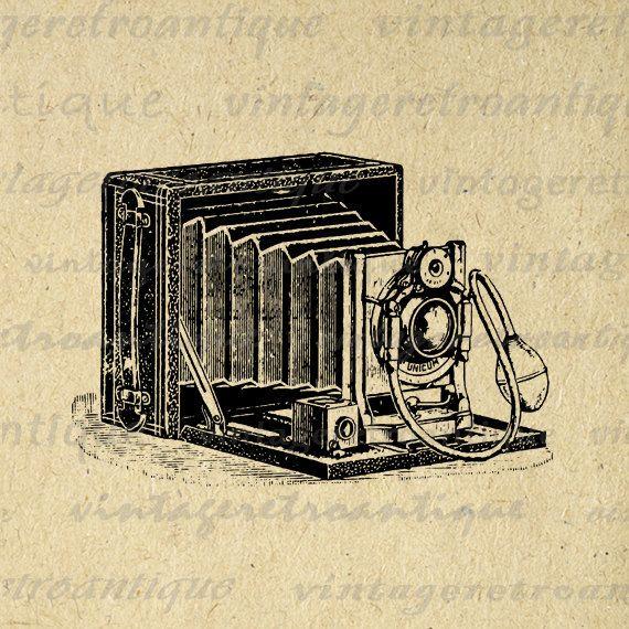 Printable Digital Old Fashioned Camera by VintageRetroAntique