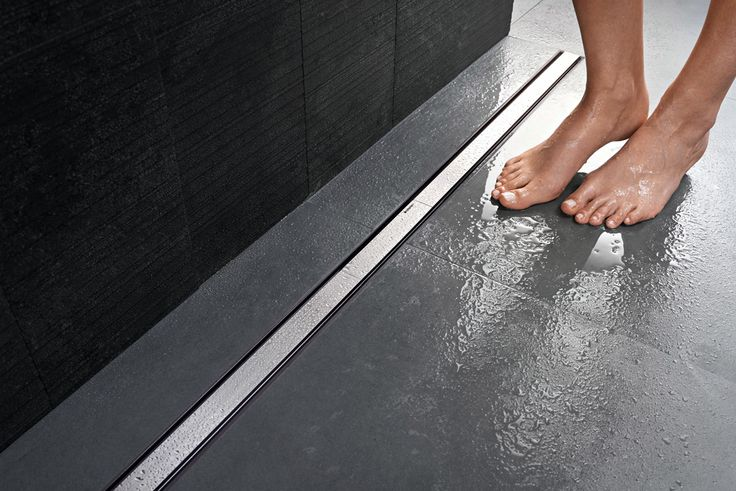 Geberit duschavlopp i serien CleanLine av rostfritt stål