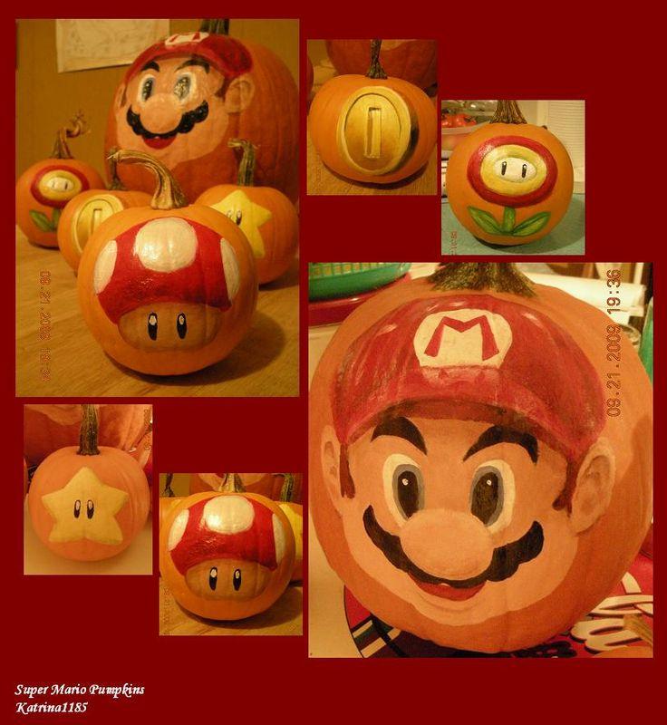 Super Mario Pumpkins by ~katrina1185 on deviantART