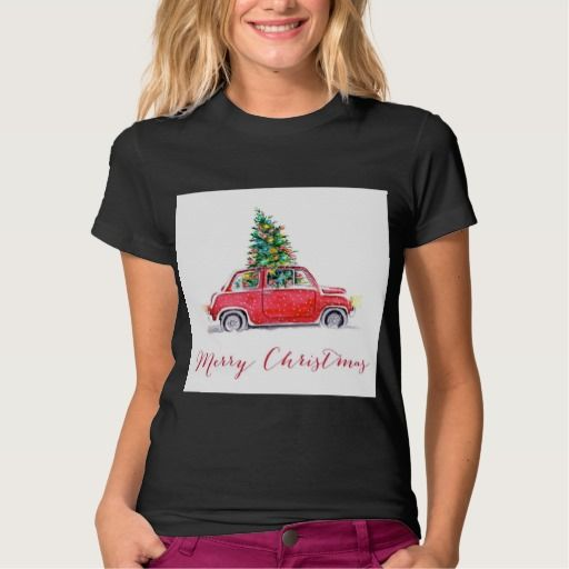 car with a christmas tree