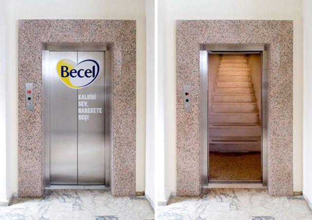 Cool elevator advertisements