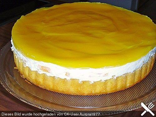Schnelle Pfirsich - Maracuja - Torte mit gekauftem Boden