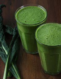 Greensicle, Recipe adapted from Steve Mekoski, Purée Juice Bar, Bethesda, MD by tastingtable: Kale, lemon juice, orange, banana, coconut water +/- coconut nectar. #Smoothie #Greensicle #tastingtable #Steve_Mekowski