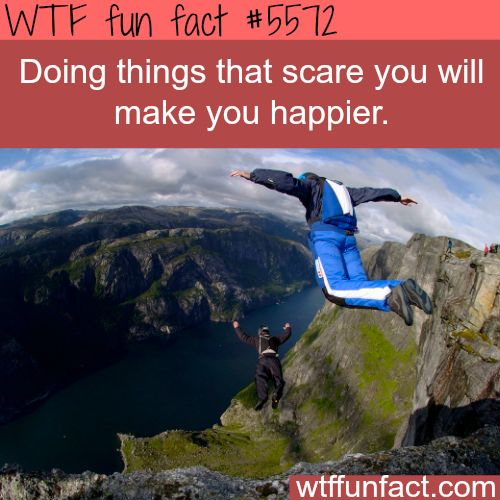 : Doing things that scare you - WTF fun facts | April 4 2016 at 02:04AM | http://www.letstfact.com