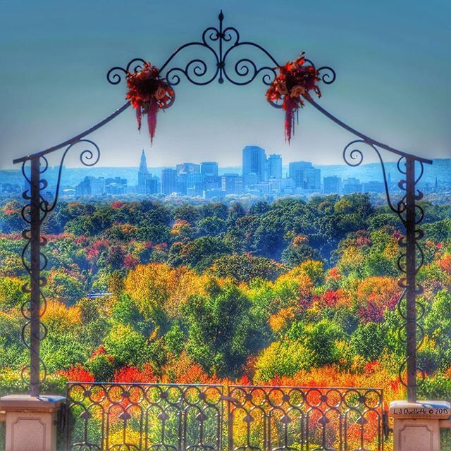 Hartford, Connecticut skyline as seen from Wickham Park in Manchester…