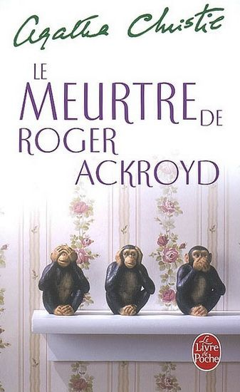 Agatha Christie - Meurtre de Roger Ackroyd   FR - Mass Market Paperbound   Livre de Poche - ISBN 9782253006961