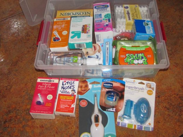 """In fact, it's a good idea to put together a whole """"infant first aid"""" kit before the baby arrives. 